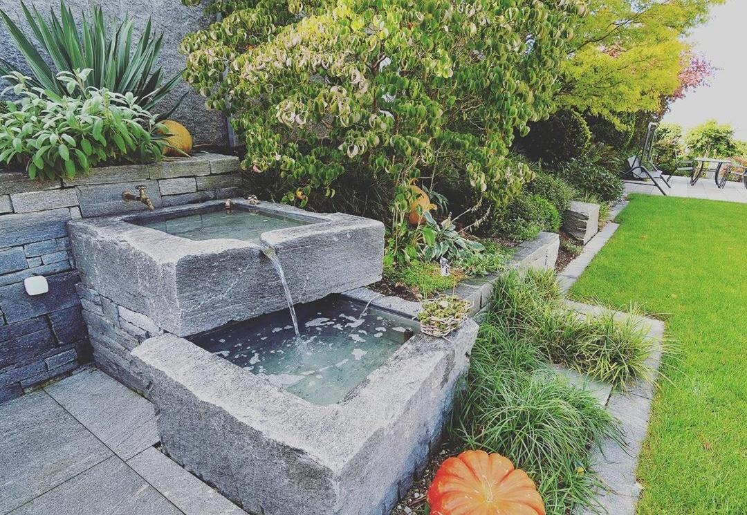 Création fontaine jardin à Lyon Pollionnay 69