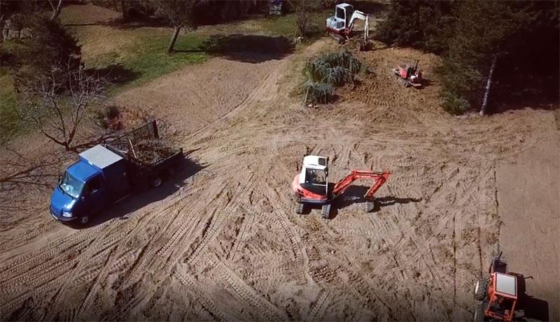 Vue d'un chantier de terrassement sur Pollionnay (69)